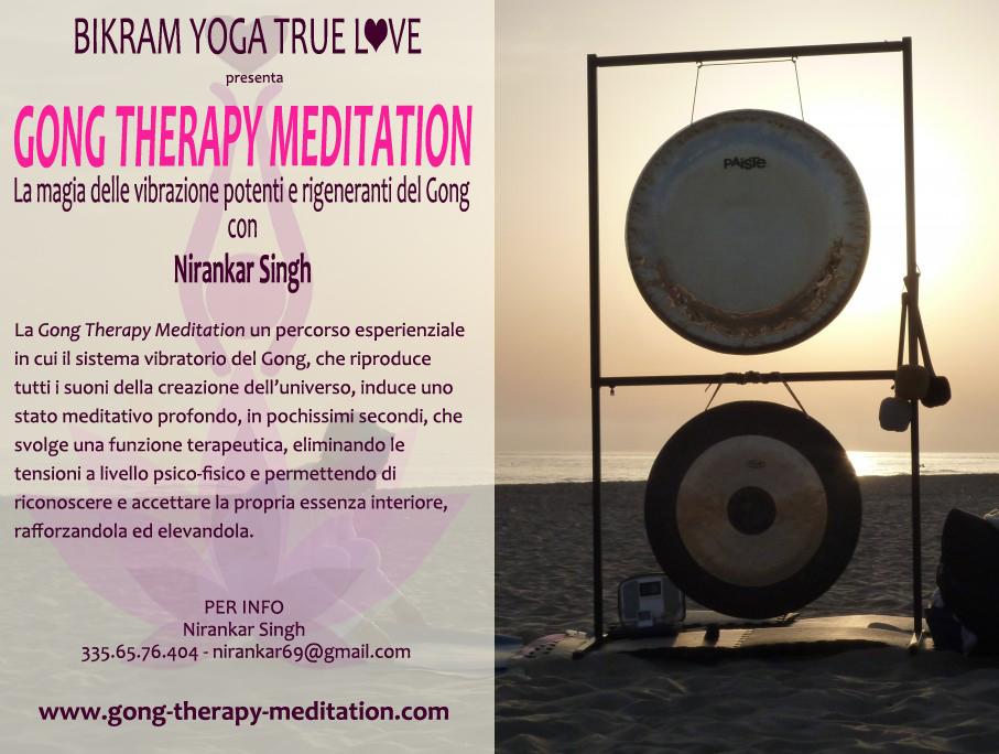 Gong therapy flyer per nirankar