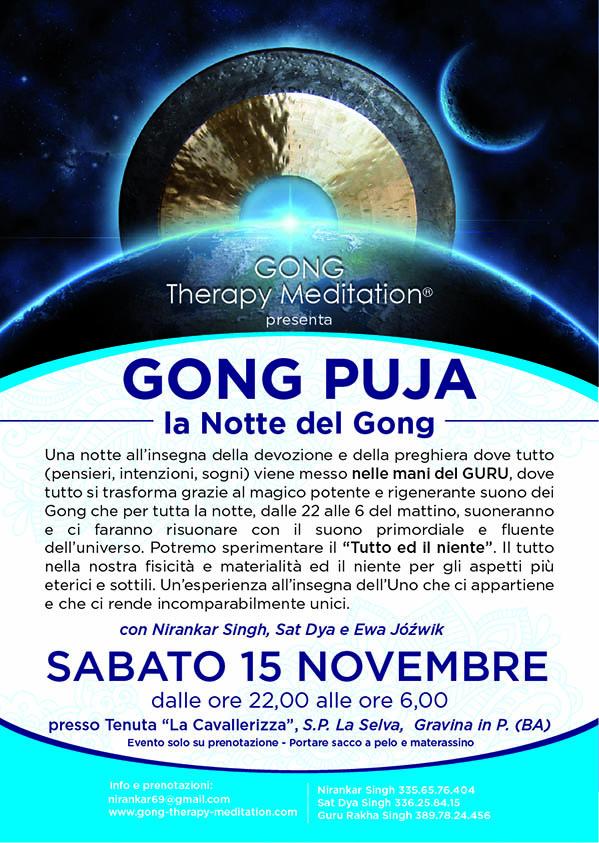 locandina gong puja 15 novembre