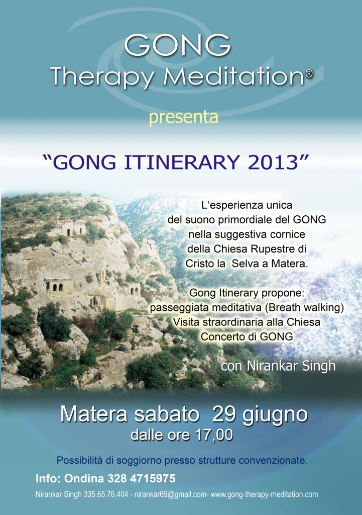 Gong-Itinerary